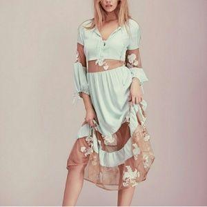 NWT For Love and Lemons Mint Eva Dress